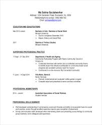 Social Work Resume Examples by 24 Best Work Resume Templates Free U0026 Premium Templates