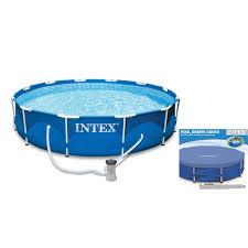Intex Pool 14x42 Intex 10 X 2 5 Foot Metal Frame Swimming Pool Set W Filter Pump