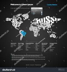World Map Poster India by Vector Website Design Template World Map Stock Vector 88193377