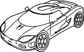 sports car drawing sport toy car coloring page wecoloringpage
