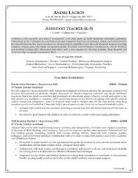 Teacher Resume Objective Best Resume by Career Objective For Teacher Resume Best Resume Collection
