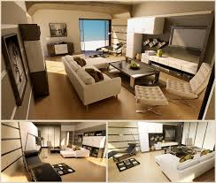 stylish living room design trend decoration white grey wood living