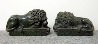 marble lion bookends 554 green carved marble lion bookends green marb lot 554