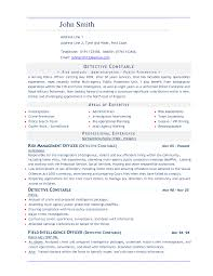 Sample Security Guard Resume No Experience Cv Template Uk Work Experience
