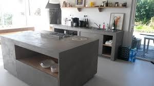 cuisine en beton cuisine bton cir the barn cuisine bton beton brilliant