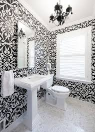 tapeten badezimmer 30 bäder mit schwarz und weiß wallpaper bilder home deko