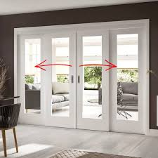 easi slide op1 white shaker 1 pane sliding door system in four