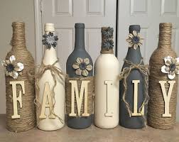 custom decorated wine bottles diy decor decorated