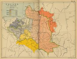 map of poland the partitions of 1772 1793 1795