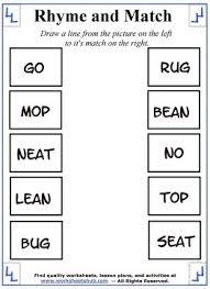 printable rhyming words rhyming words worksheets