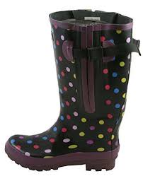 womens boots size 12 wide wide calf s boots purple jileon rainboots