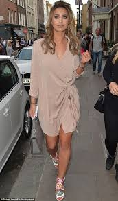 pretty thing dresses towie s ferne mccann puts on a leggy display on out