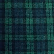 5 yard bolt black plaid flannel cotton fabric