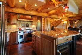 log cabin homes interior creek cabin rustic kitchen denver by mountain log