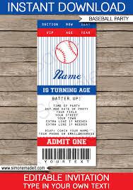 baseball ticket invitation template baseball invitations