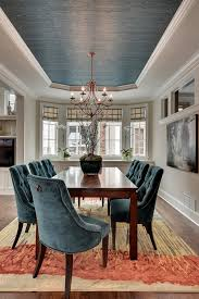 gorgeous dining room ceiling paint color to match the chairs