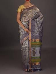 Print Spreadsheet Pure Bagru Block Print Silk Cotton Saree From India