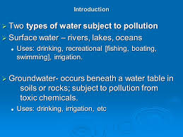The Location Of The Water Table Is Subject To Change Water Pollution Ppt
