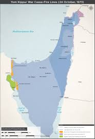 Map Of Israel And Syria by Yom Kippur War Cease Fire Lines
