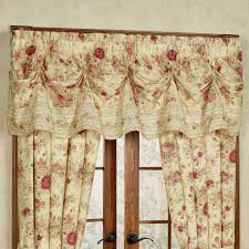 vintage rose floral window treatment