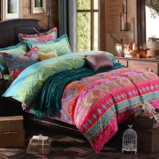 Bright Duvet Cover Bedding Bedroom Bright Bohemian Bedding Style Comforter Sets On
