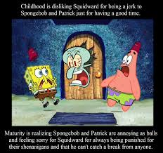 Squidward Meme - childhood maturity squidward by vgafanatic on deviantart