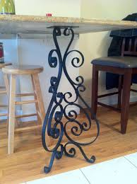 Wrought Iron Kitchen Tables by Custom Wrought Iron Kitchen Table End Table Scrolled Leg By