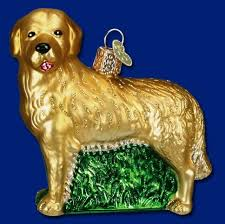 merck family old world christmas golden retriever ornament