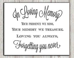 in loving memory wedding thru 1 6 only in loving memory printable sign for wedding