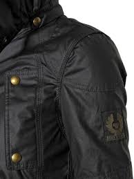 hooded motorcycle jacket belstaff trackmaster hooded waxed cotton jacket in black lyst