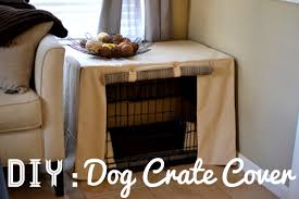 diy dog crate cover under the oaks