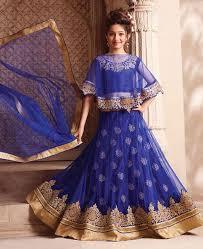 buy ideal navy blue kids lehenga choli aprl6636 at 776 22 zar