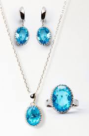 blue cubic zirconia necklace images Cubic zirconia necklace earrings ring jpg