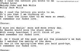 old american song lyrics for as i read the letters you wrote to