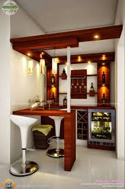 bar engaging brown accents wall paint of mini bar decorating