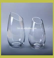 Large Glass Vases Wholesale Blue Glass Vases Wholesale Slanted Clear Glass Vase Slanted Clear
