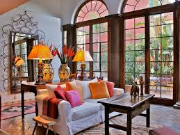spanish style living room home design ideas