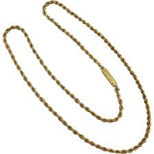 rope necklace choker images Beryl lane antique 18ct gold choker rope necklace png