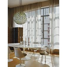 saarinen oval dining table skandium