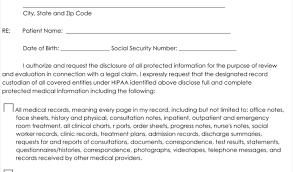 content release form template medical records release form