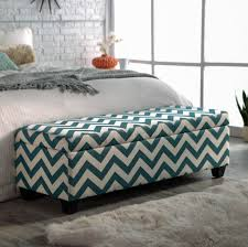 Ottoman Storage Bench Furniture Inviting Chevron Ottoman Storage Bench Design For