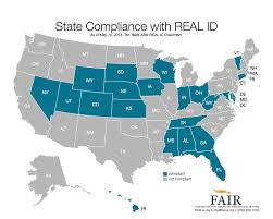 Real Map Of The World by Map Of States That Comply With Real Id Driver U0027s License