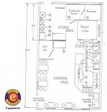 bagel store layout and equipment information with floorplans