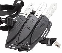 Kitchen Knives With Sheaths Cutlery Lightning Bolt Triple Throwing Knife Set With Shoulder Harness