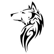wolf silhouette vinyl sticker car decal