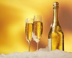 download wallpaper 1280x1024 bottle wine glasses champagne snow