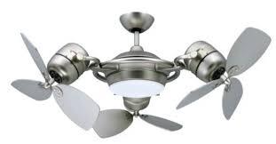 dual ceiling fans twin double motor fan throughout vertical
