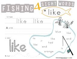 printable kindergarten sight words sight word printables