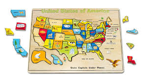 wooden usa map puzzle with states and capitals doug large usa map wooden puzzle 45 toys r us
