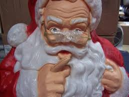 Blow Mold Plastic Outdoor Christmas Decorations by Whispering Santa Claus Lighted Plastic Blow Mold Light Up
